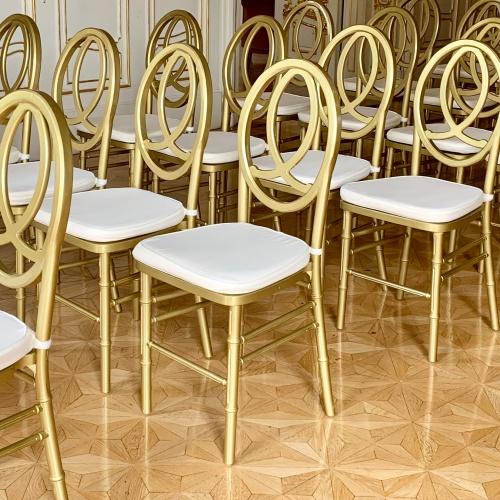 Arany Infinity szék kölcsölzés esküvőre